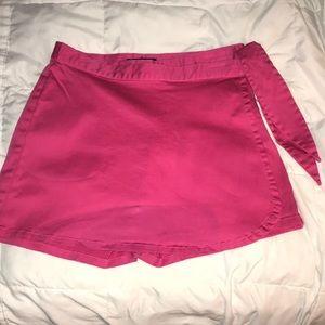 Hot pink skort.  Boston Proper.  Side zip w/tie